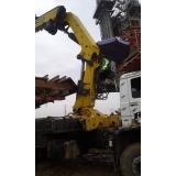 locação de caminhão munck para obra Brooklin