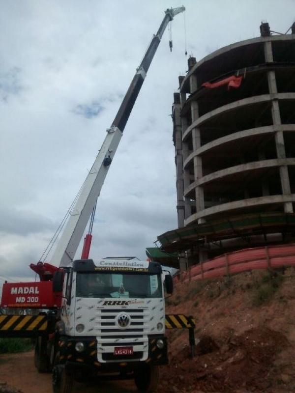 Locação de Guindaste de Obra Barato Cidade Tiradentes - Locação de Guindaste com Operador