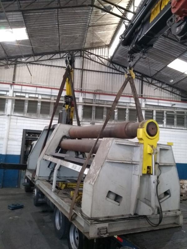 Remoção de Máquinas Pesadas Antigas Valor Santo Amaro - Remoção de Máquinas Dobradeiras