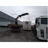 locação de caminhão munck para container valor Moema