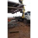 locação de caminhão munck para obra barato Jardim América